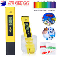 Electric PH Test Meter Pen Digital Portable Water Aquarium Hydroponics Tester AU