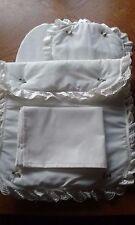 Bedding Quilt Pillow Sheet & Mattress for Silver Cross Ranger Dolls Pram Cream