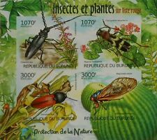 Insects, Plants of Red List Nature protection ms Burundi Sc1124 BUR12401a IMPERF
