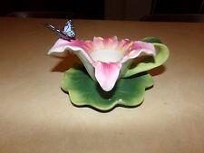 PartyLite Stargazer Lily Ceramic Tealight Candle Holder, New, w/ Original Box