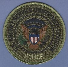 UNITED STATES SECRET SERVICE POLICE DIVISION PATCH GREEN