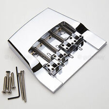 NEW Hipshot 4 String Rickenbacker Replacement Bass Bridge Aluminum - CHROME