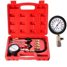 Good Gas Engine Cylinder Compression Test Kit Auto Tool Pressure Gauge Box BC