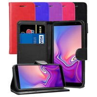 For Samsung Galaxy J6+ Plus SM-J610FN/DS-Leather Wallet Flip Case Cover + Screen