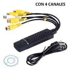 CAPTURADORA DE VIDEO AUDIO POR USB EASYCAP 5 RCA PASA VIDEOS VHS TDT PS3 XBOX