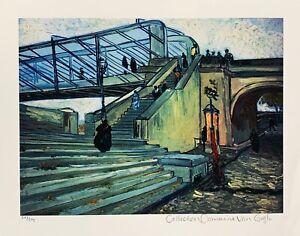 Vincent Van Gogh TRINQUETAILLE BRIDGE Estate Signed Limited Edition Giclee Art