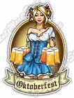 """Oktoberfest Girl Beer Festival Munich Gift Car Bumper Vinyl Sticker Decal 4""""X5"""""""