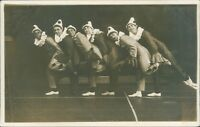 Postcard Peridot Clown Troop 1920's Theatre  Entertainment Real photo unposted