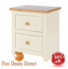 Jamestown 2 Drawer Bedside Cabinet Bedroom Furniture Dovetail Oak Painted Modern