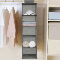 DRAWER SHELVES HANGING WARDROBE SHOE GARMENT ORGANISER STORAGE CLOTHES TIDY UK