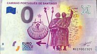 BILLET 0 EURO CAMINHO PORTUGUES DE SANTIAGO 2019-1 NUMERO DIVERS