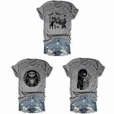 Halloween Tshirt Scary Funny Ghost Face Tee Unisex Short Sleeve Graphic Tee Gift