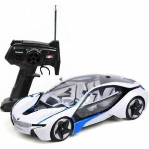 BMW I8 Vision w Lights White Vehicle RC Car 1:14 Licensed Remote Control New