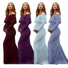 Maternity Photography Props Off Shoulder Long Formal Dress For Pregnant Women