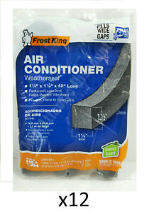 """Bulk Lot of 12 Air Conditioner Weather Seals Strips 1-1/4"""" x 1-1/4"""" x 42"""""""