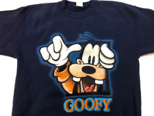 Vintage Disney Goofy Crewneck Sweatshirt, Men's Size Medium, Blue, Retro 90's