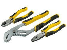Stanley Control Grip Plier Set of 3 COMBINATION,DIAGONAL,GROVE JOINT  STA074471