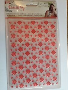 Crafters companion Embossing Folder 5 X 7 Inches.  Delicate Petals