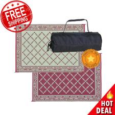 Reversible Mat & Carry Bag 6 x 9 ft Outdoor Patio Carpet Rv Camper Camping Rug