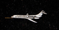 MD-80 MCDONNELL DOUGLAS PEWTER LAPEL HAT PIN JET AIRLINES LONG BEACH MADE IN US