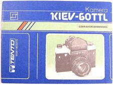 MANUAL Instruction Russian KIEV 60 TTL Camera ORIGINAL German language