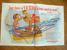 1954 American Airlines Ad Choice of Vacations from Coast to Coast