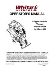 White Chipper Shredder Operators Manual # yardboss 950