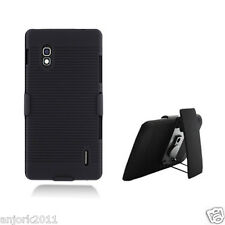 LG Optimus G E970 AT&T Case + Holster Combo w/ Swivel Stand Black