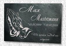Grabstein Gedenktafel Grabplatte Urne Tiergrabstein Gedenkplatte Motiv H1+