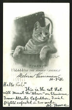 (Airship Disaster, Vaniman, Famous Cats ) 1910-11 expeditions card READ