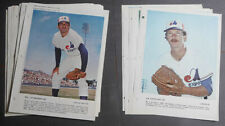 1972-83 Lot of 93 Montreal Expos MLB Derniere Heure Baseball photos