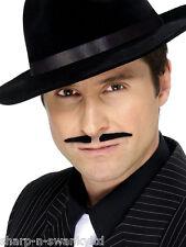 Mens Stick On Fake False Spiv 1920s Gangster Fancy Dress Moustache Mustache