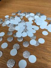 250 Baby Blue Silver Glitter Circle Table Confetti Wedding Christening Birthday
