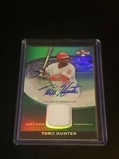 2011 TOPPS TRIPLE THREADS TORII HUNTER AUTO/JERSEY RELIC #4/50 SP ANGELS