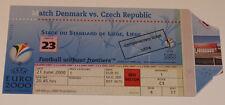 Ticket for collectors EURO 2000 * Denmark - Czech Republic in Liege