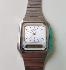 Citizen Analog-Digital Edelstahl Armbanduhr GN-4W-S Vintage DF