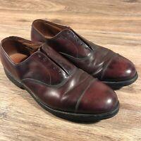 Allan Edmonds Mens Brown Leather Shoes Size 11  Vibram ( No Laces)
