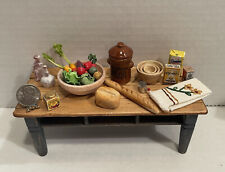 Vintage Artisan Food & Tableware Bread Veggies Dishes Dollhouse Miniature 1:12