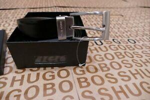New Hugo Boss reversible black brown leather boxed gift suit jeans trouser belt