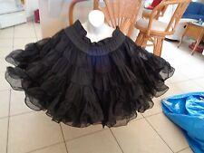 BLACK SQUARE DANCE PETTICOAT Crinoline Tutu Size Large