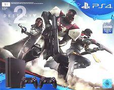SONY PlayStation 4 PS4 Slim 1TB Konsole Schwarz Bundle + Destiny 2 + Controller
