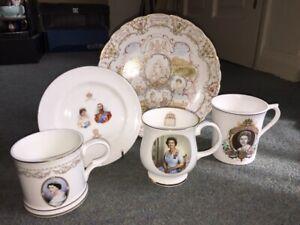 Various Events Five Comemorative Ceramics Victoria-George V & Elizabeth II.