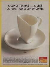 Vintage 1998 Magazine Ad Page Lipton Tea Bags Less Caffeine Than Coffee