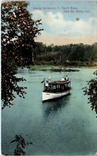 SAULT STE MARIE, Ont, Canada  BOAT on ST MARY'S RIVER  c1910s   Postcard