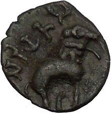 Ancient India SATAVAHANA Empire 177AD Authentic Greek Style Coin Elephant i52350