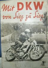 * Mit DKW von Sieg zu Sieg ca. 1935 Prospekt Broschüre ORIGINAL  selten