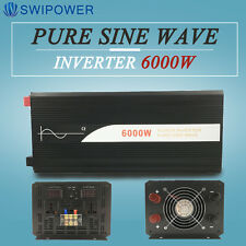 Pure Sine Wave Power Inverter DC 12V/24V/48V  to AC 120V/220V 6000W Off Grid