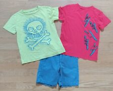 Lot Of 3 Crazy 8 Boy's T-Shirts Shorts Outfit Set Size Small 5-6