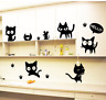 Cute Cat Vinyl Home Room Decor Laptop Wall Sticker Bedroom Removable Mural