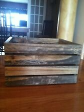 Antique Gray- Stained Rustic Wood Crates